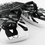 Kicks Männchen schwarz weiß