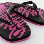 Kickz Logo pink schwarz