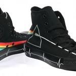 Converse Pink Floyd - schwar Regenbogen beide Seiten