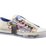 Zu sehen ist der Ed Hardy Lowrise canvas khaki Sneaker