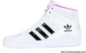 adidas hard court hi Sneaker weiß-pink