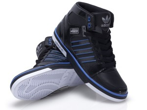 Foot Locker adidas hardcourt Turnschuh schwarz