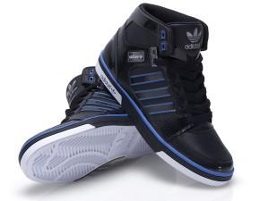 Foot Locker adidas hardcourt Turnschuh schwarz