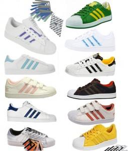 Die verfügbaren Farben des Ebay WOW Angebots des adidas superstar