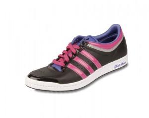 Der adidas top 10 HI SLEEK in pink und schwarz von Foot Locker und adidas