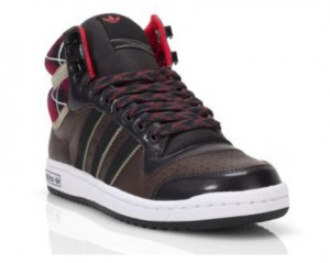 adidas top 10 hi in braun & schwarz (Foot Locker exklusiv)