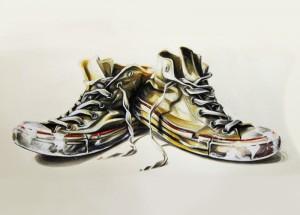 "Das Bild ""Converse Chucks - acrylic on canvas"" von WeLoveKicks"