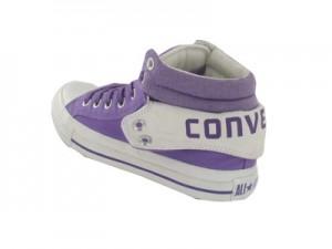 Der Converse Padded Collar II in lilac und weiss von schraeg hinten
