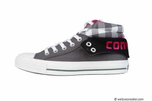 Der Converse Padded Collar 2 Plaid in grau und pink