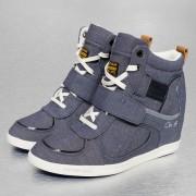 G-Star Footwear Yard Wedge Astra Strap Drill Sneakers Denim Blue