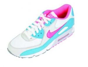 Der pink-silberne Nike Air Max 90 für Frauen