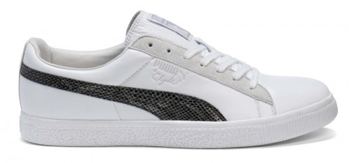 Clyde Sneaker Puma Snakeskin weiß