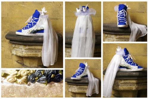 Puma Suede Mid x Tiffany Baron in blau (Royal Wedding Edition)