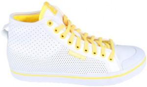 Der Adidas Honey Mid de lux Sneaker in weiß und Gelb