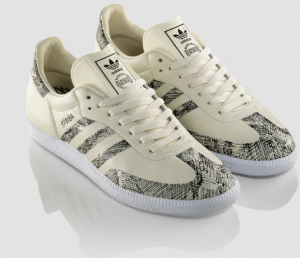 Der neue, cremefarbene Adidas Originals Samba aus dem five two three Projekt