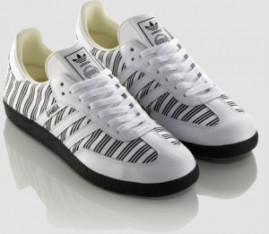 Der Adidas Originals Samba in Zebraoptik