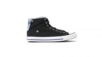 Peelback schwarz Knopfvariante Schuh