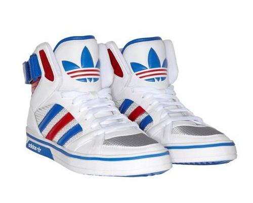 adidas Space Diver Sneaker in weiß-blau-rot