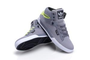 adidas Attitude Vulc ST in aluminium & neon