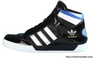 adidas hard court hi Sneaker schwarz-weiß
