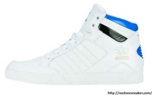 adidas hard court hi Sneaker weiß-blau