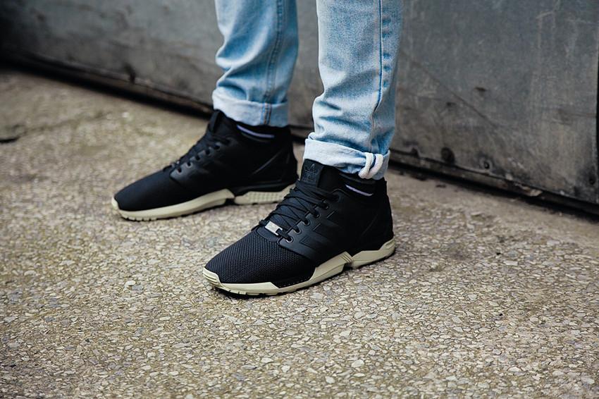 zx flux adidas sneaker schwarz