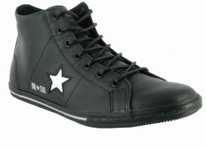 A new star - converse one star low pro mid in schwarz und silber