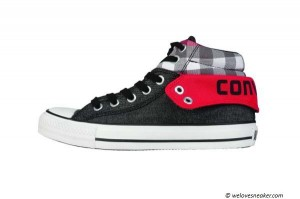 "Converse Pad Coll 2 ""Plaid"" in schwarz-rot"