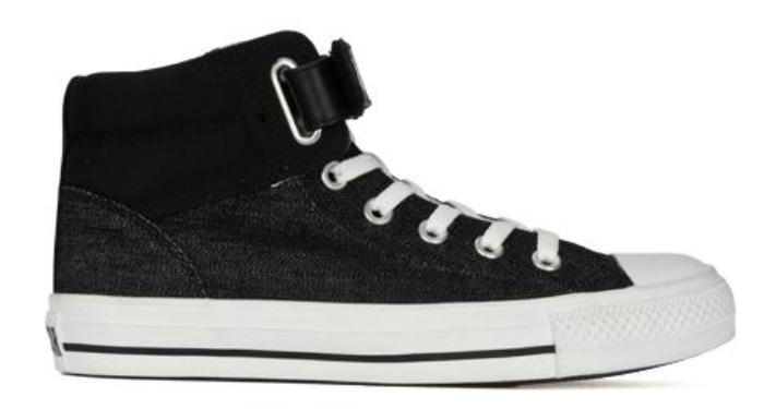 fe37f4b52f87 Converse Padded Collar Loopback in schwarz   weiß