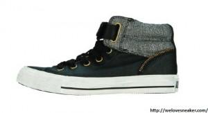 Loopback Converse Sneaker schwarz
