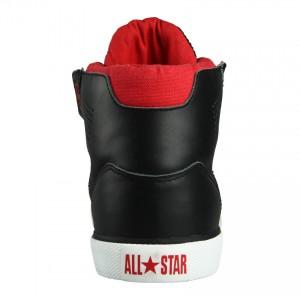 Reverb High Sneaker Fersenansicht schwarz