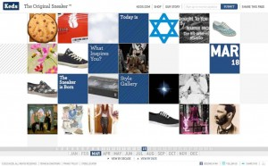 Screenshot der theoriginalsneaker.com Seite von Keds