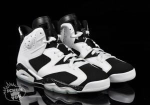 Nochmals der schwarz-weiße Oreo Nike Air Jordan Sneaker
