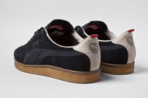 Weiß meets schwarz: der Sneaker von hinten
