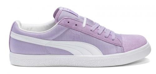 Clyde violett Turnschuh Sneaker Puma