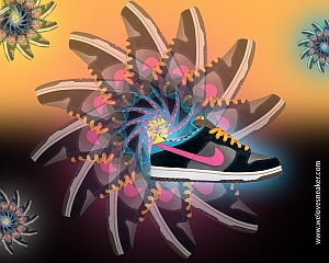 "Nike ""We Love Nike"" Sneaker Wallpaper Thumbnail"