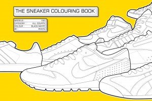 """The Sneaker Colouring Book"" Front"