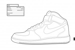 Nike Air Force 1 aus dem Colouring Book